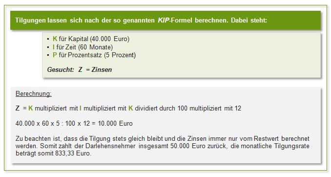 KIP-Formel